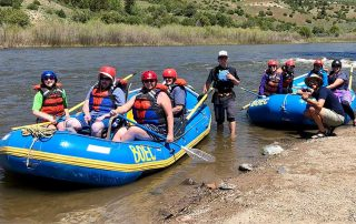 Brain injury survivors go whitewater rafting with BOEC
