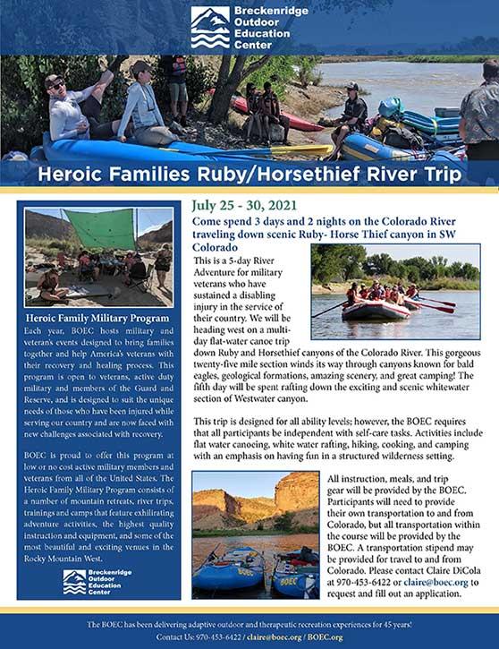 Heroic Families Ruby River Trip
