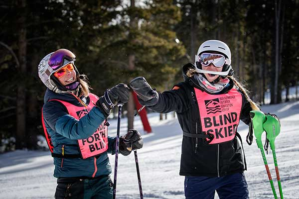 BOEC's Adaptive Ski Program for Visually Impaired