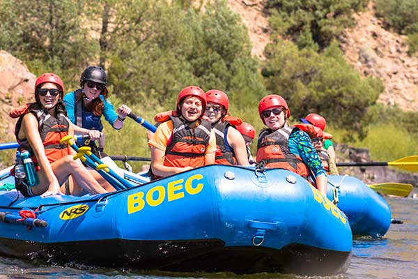 whitewater rafting on a summer custom group program