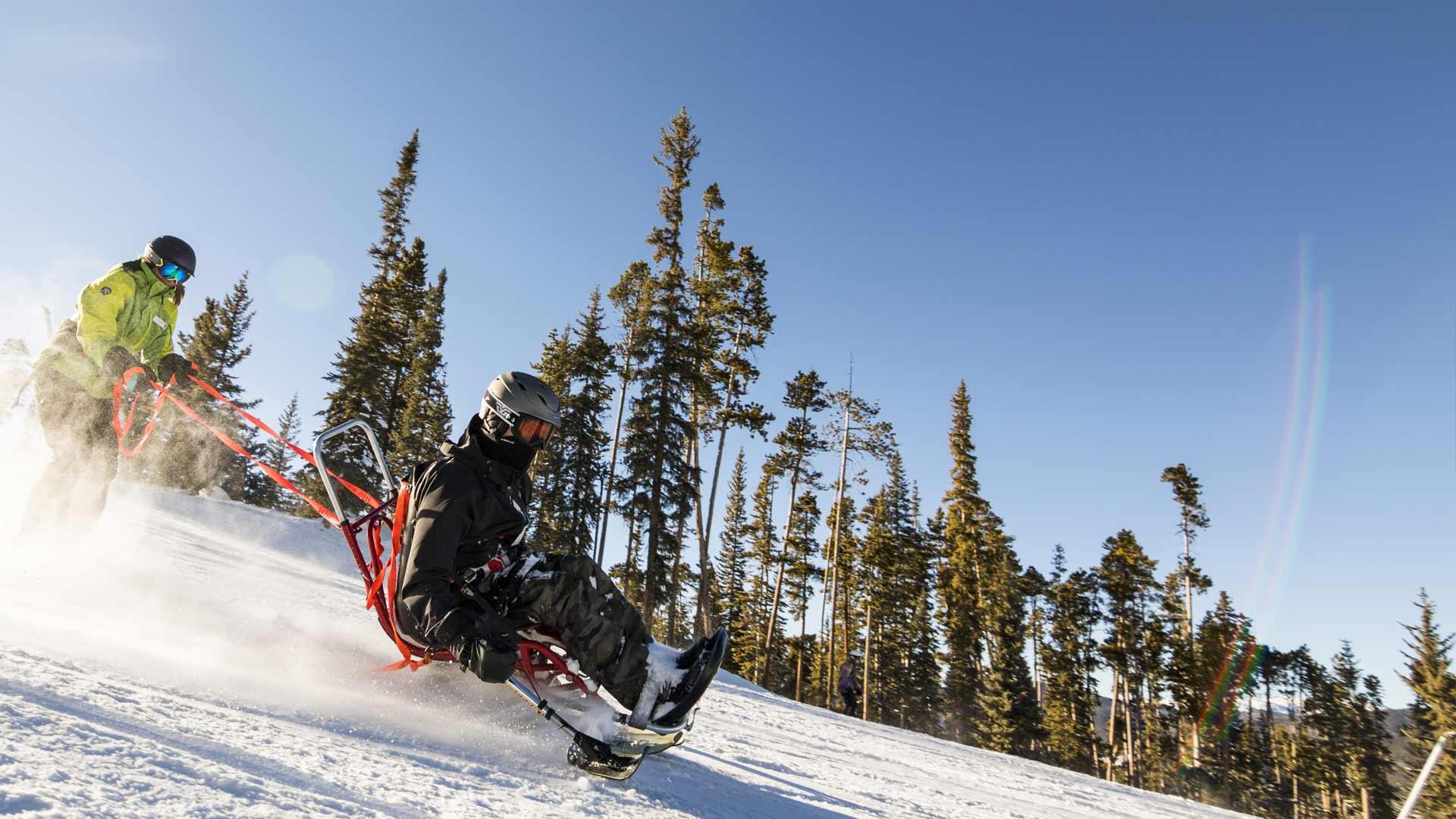 Winter Adaptive Skiing with BOEC