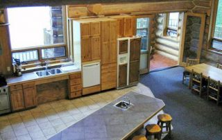 Scott Griffith Lodge Kitchen View From Loft