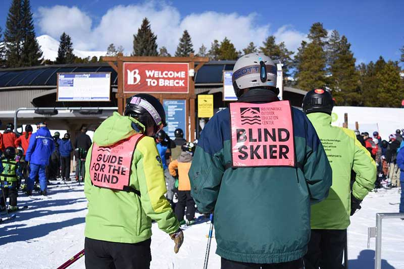 BOEC's Adaptive Ski Program for blind skiers