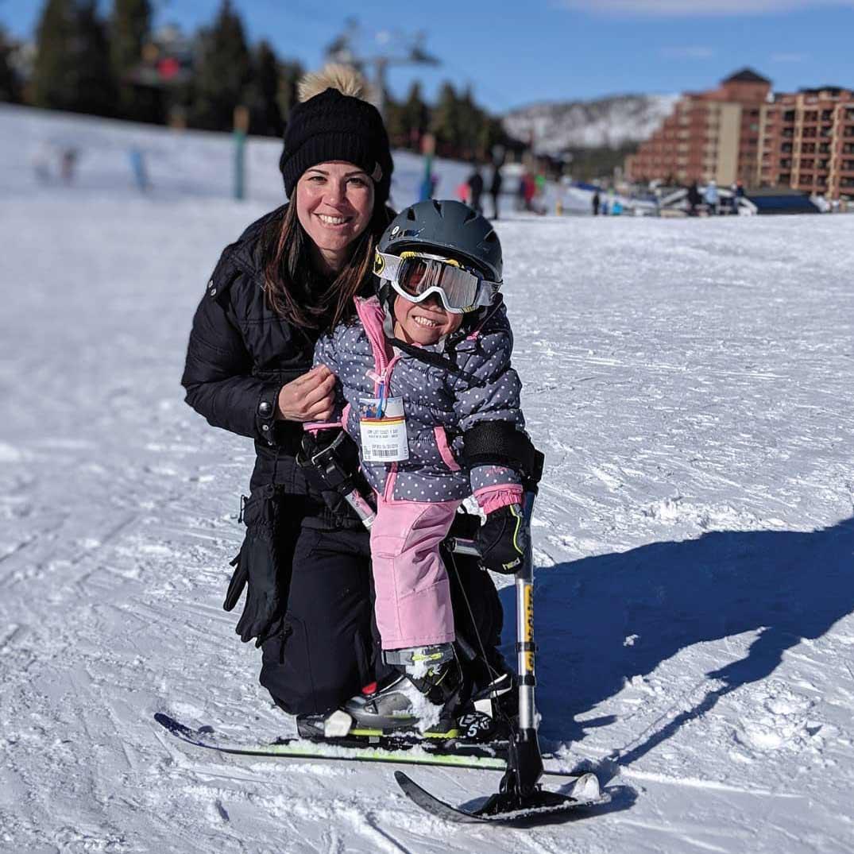 BOEC's Adaptive Ski Participant