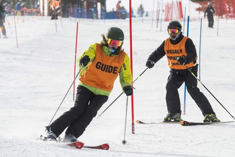 Visual Impaired Adaptive Skiing