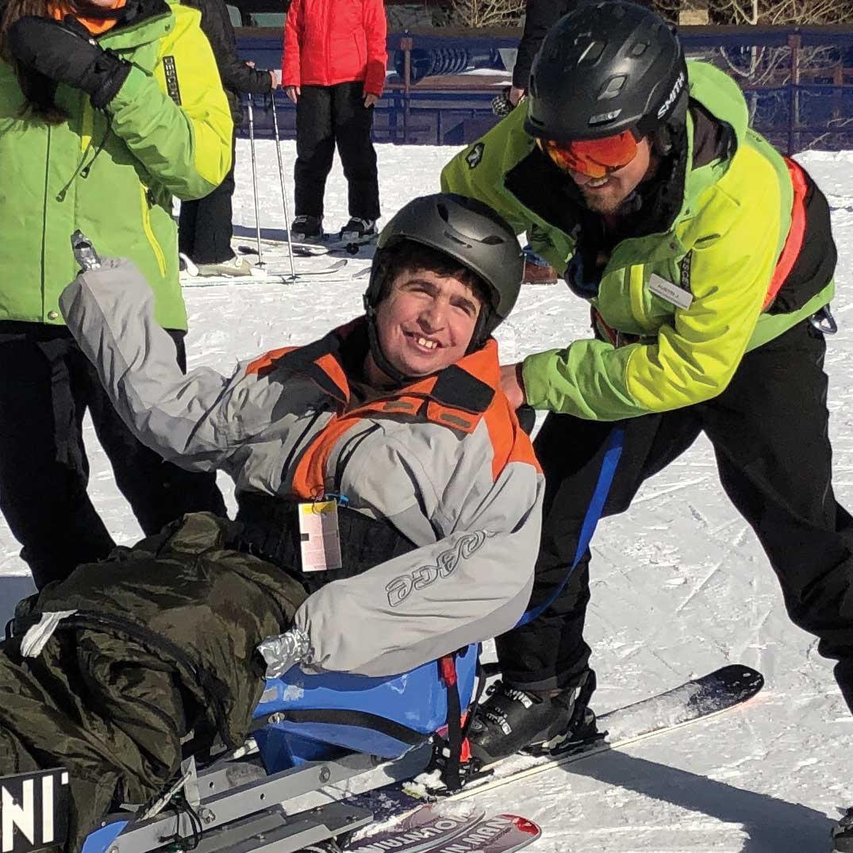 Noah, BOEC Adaptive Ski Participant