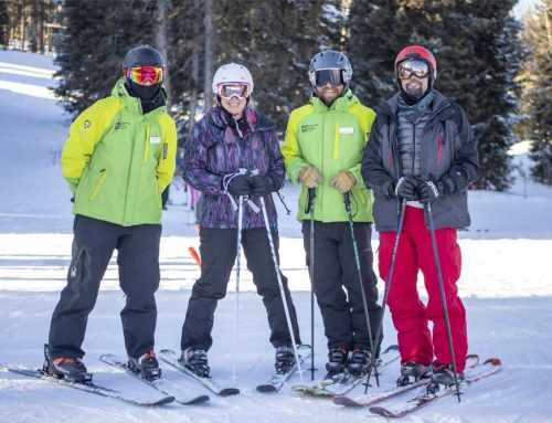 Veteran, public speaker and bestselling author Jason Redman takes adaptive ski lessons in Breckenridge