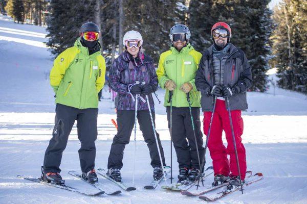 Jason Redman, former Navy SEAL, skis with BOEC