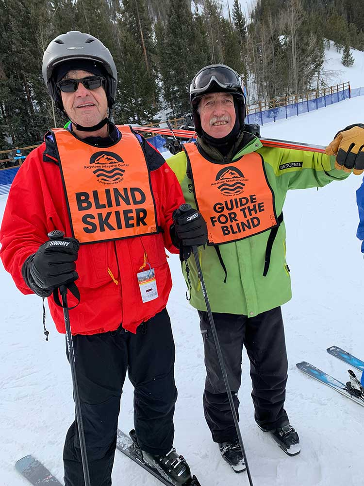 BOEC Adaptive Ski Volunteer, Lance Glaser and his student