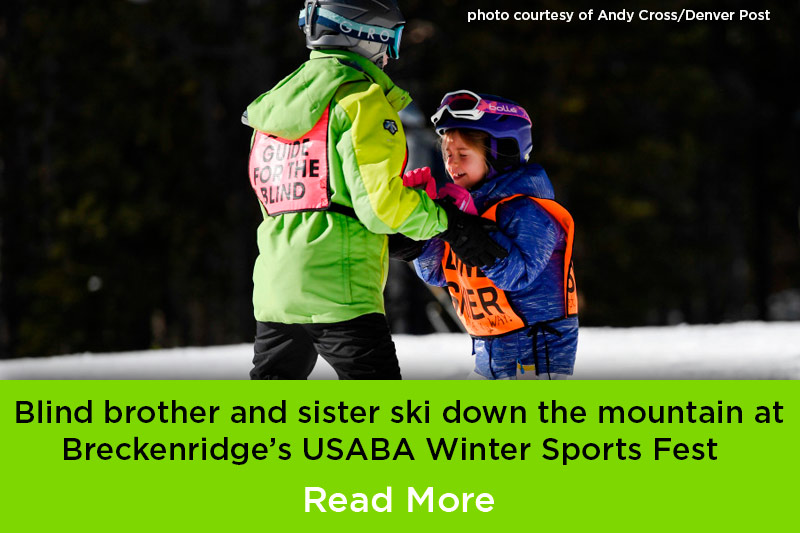BOEC adaptive ski instructors aid blind particpants