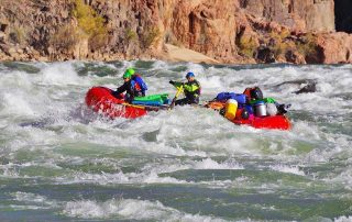 Wilderness Program Director, Jaime Overmyer guides a rafting trip