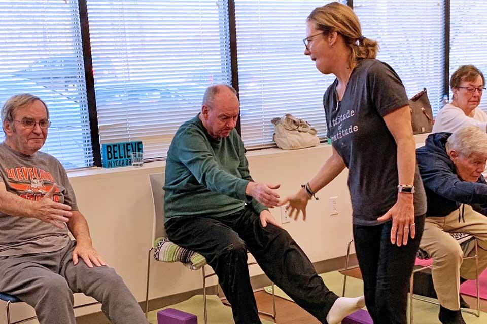 Adaptive chair yoga