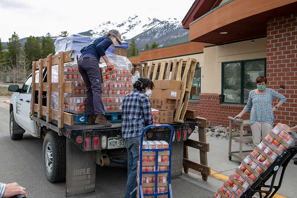 BOEC unloads its truck
