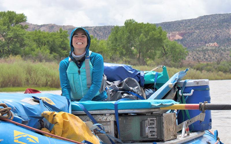 Kat Booth rafting