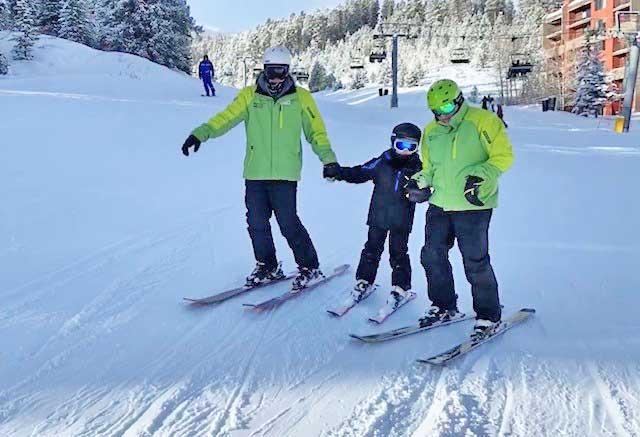 Emilio participates in BOEC's Adaptive Ski & Snowboard Program
