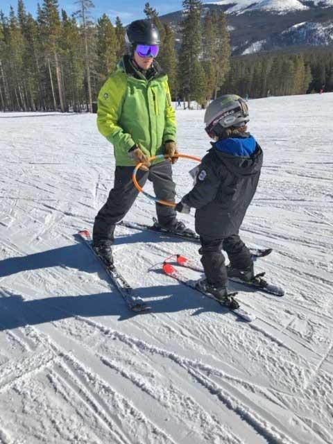 Emilio on a BOEC Adaptive Ski Lesson