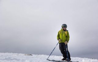 BOEC Ski Program Manager, Kyle Calbat, finds his happy place
