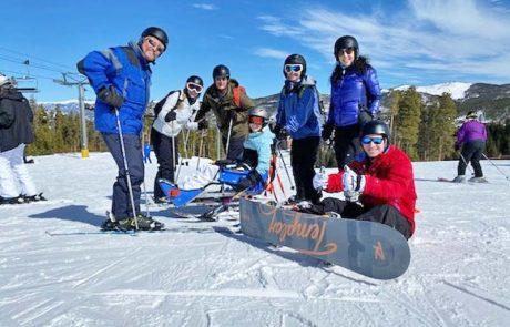 Maddie & Nichole Adaptive Skiing in Breckenridge