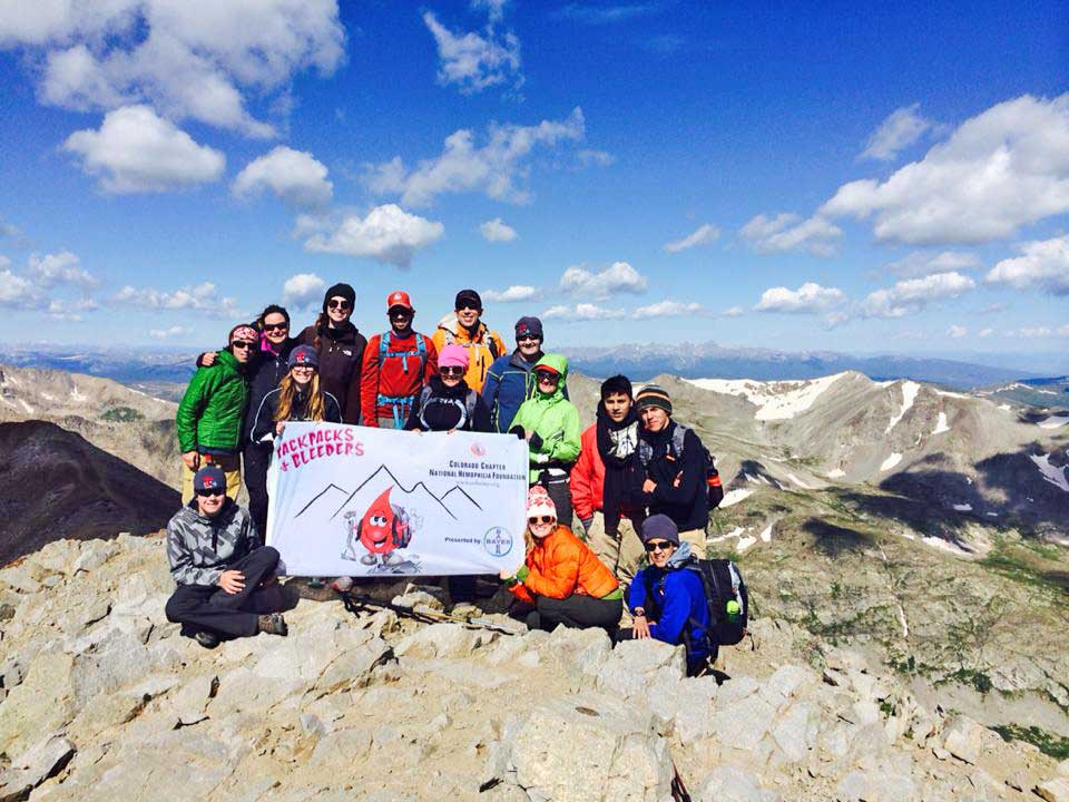 Claire with the Colorado Chapter of the National Hemophiliac Foundation
