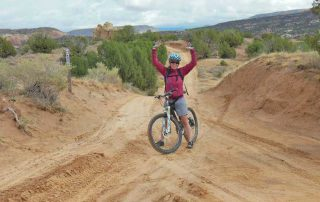 Claire DiCola mountain biking