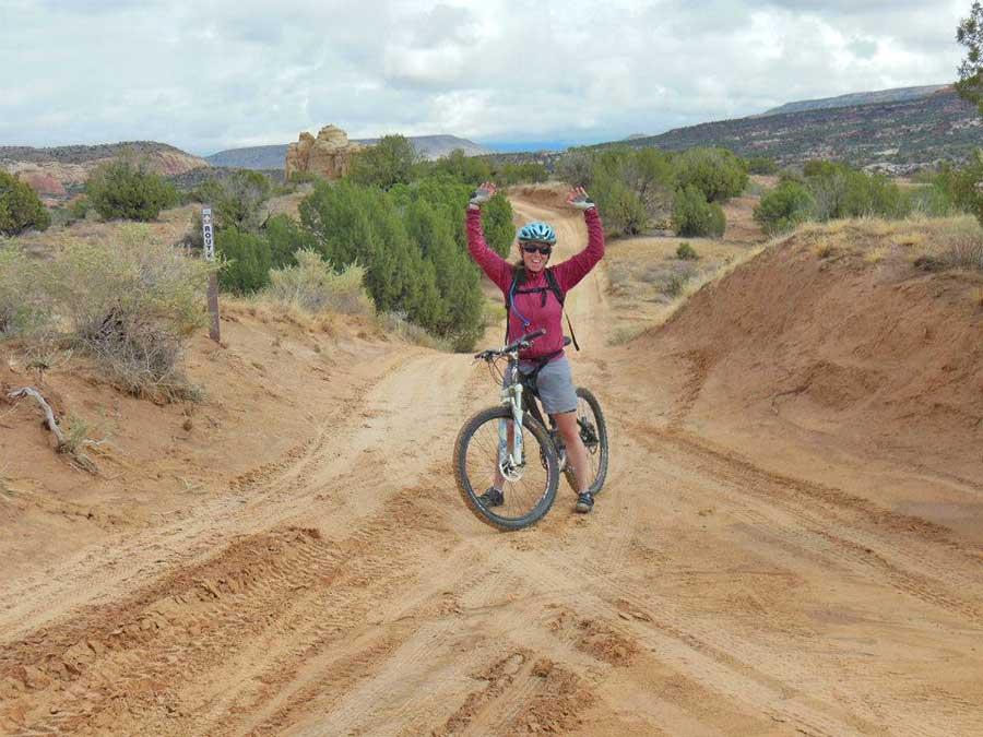 Claire DiCola mountain biking