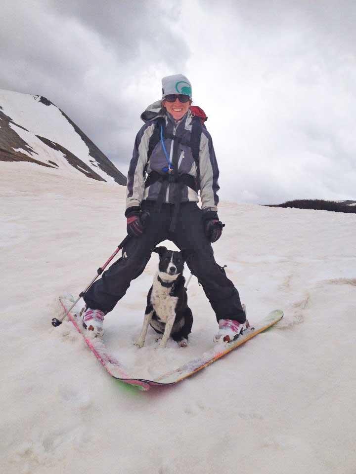 Claire DiCola skiing