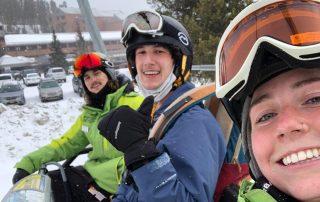 Austin Lewis with BOEC Adaptive Ski & Snowboard Program
