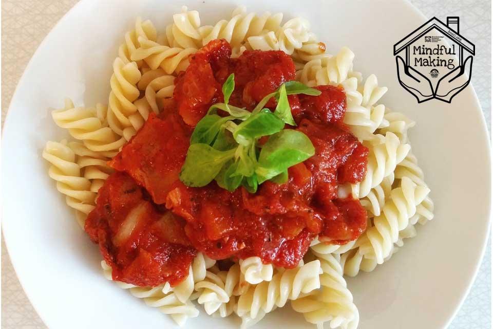 Mindful Making: Cooking Spaghetti Sauce