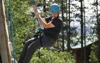 BOEC participant on the climbing wall