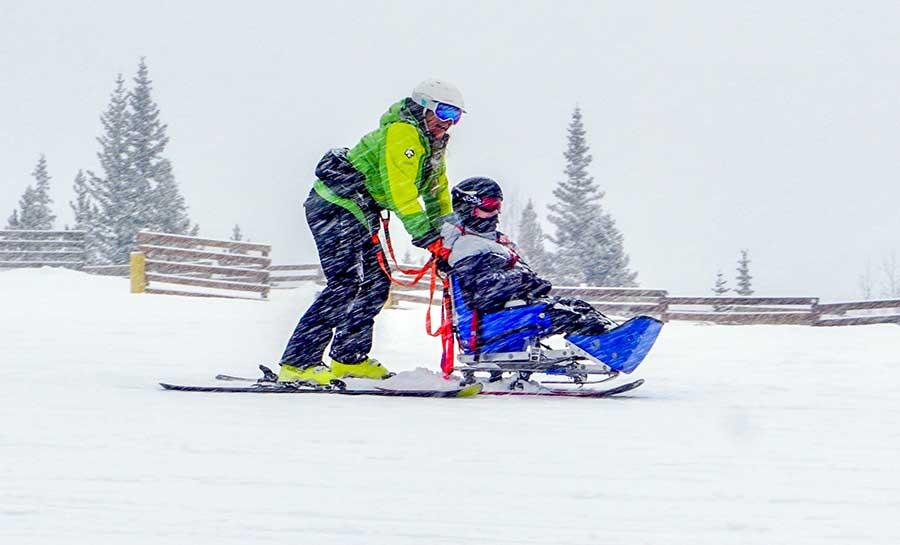 BOEC participant on a sit-ski
