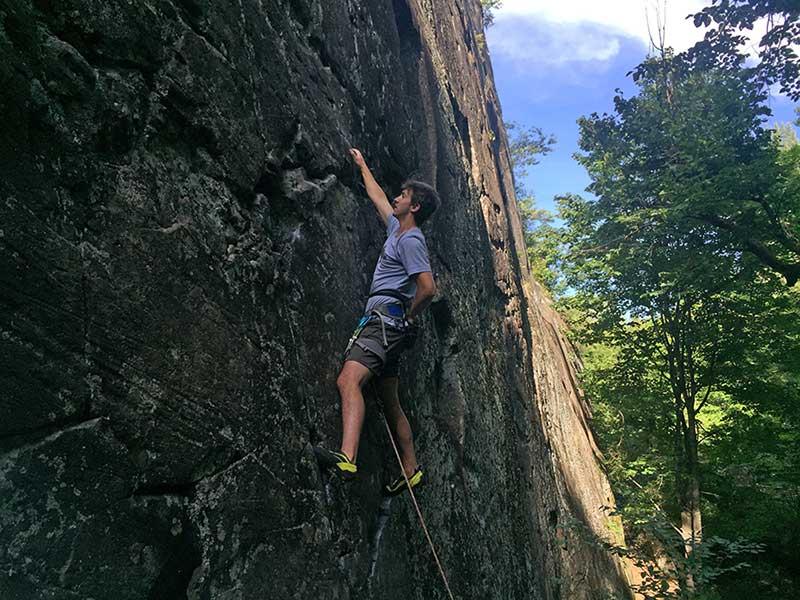 Ben in his outdoor climbing element