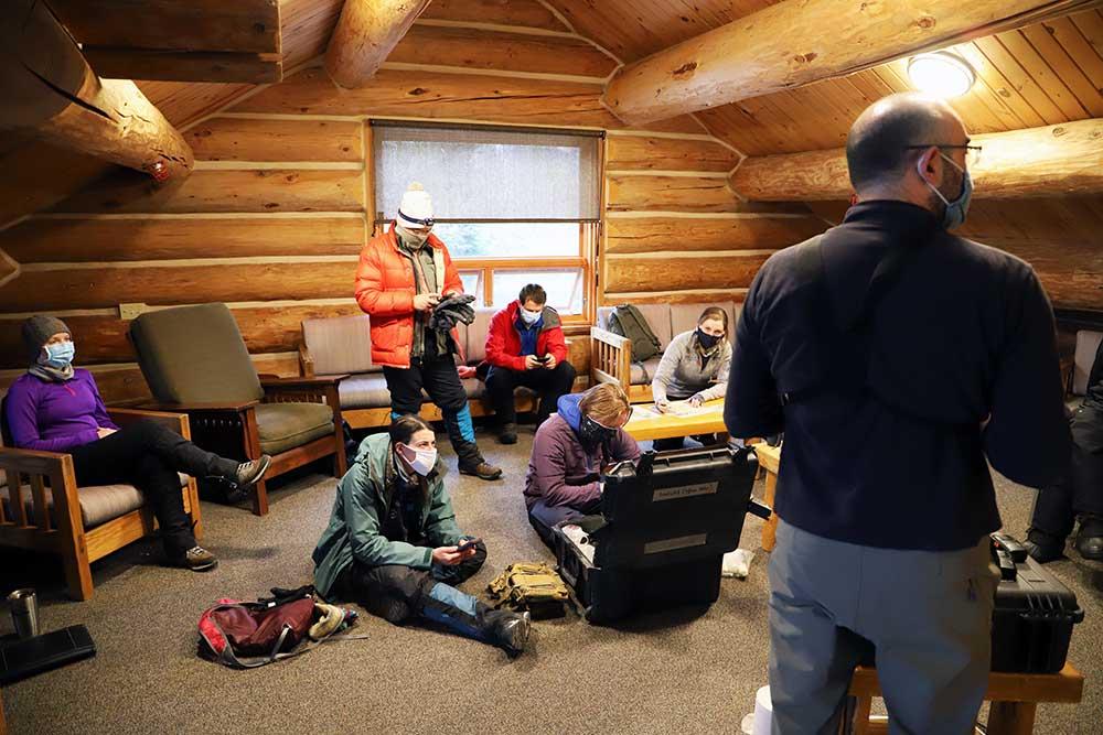 Breck Wild medical students get briefed