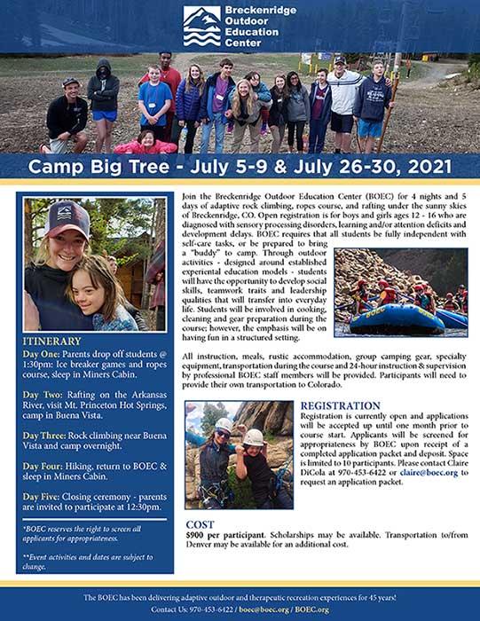 Camp Big Tree Flyer
