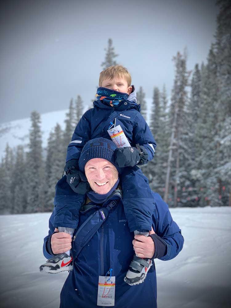 Coleman Shy and his dad Matt