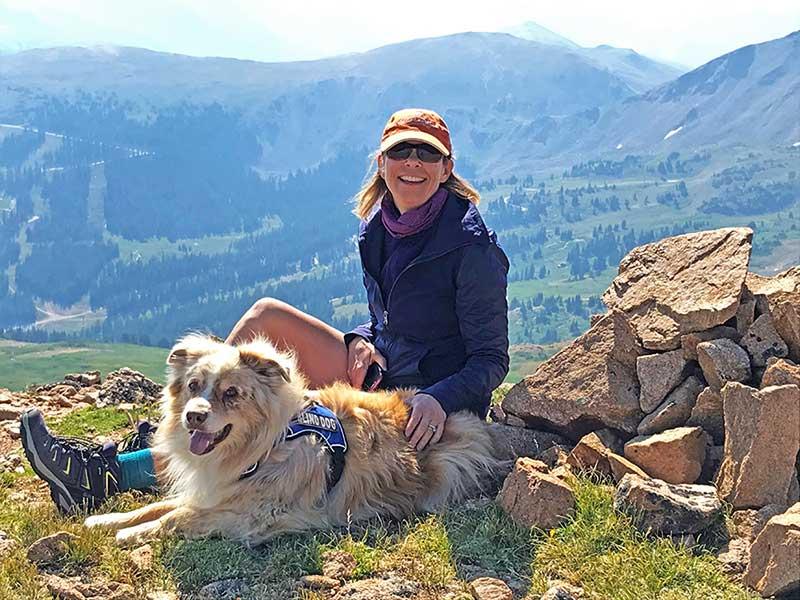 Melissa and her dog Yeti