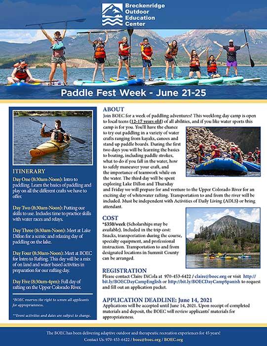 Paddle Fest Week Flyer