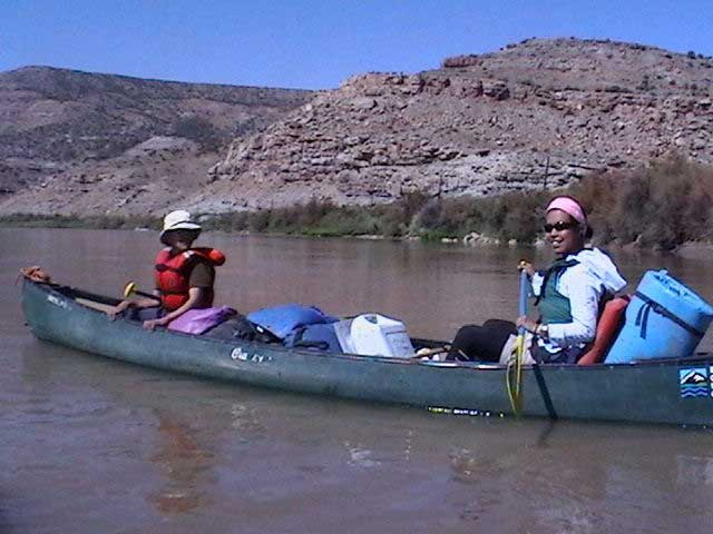Tamiko with a canoeing participant