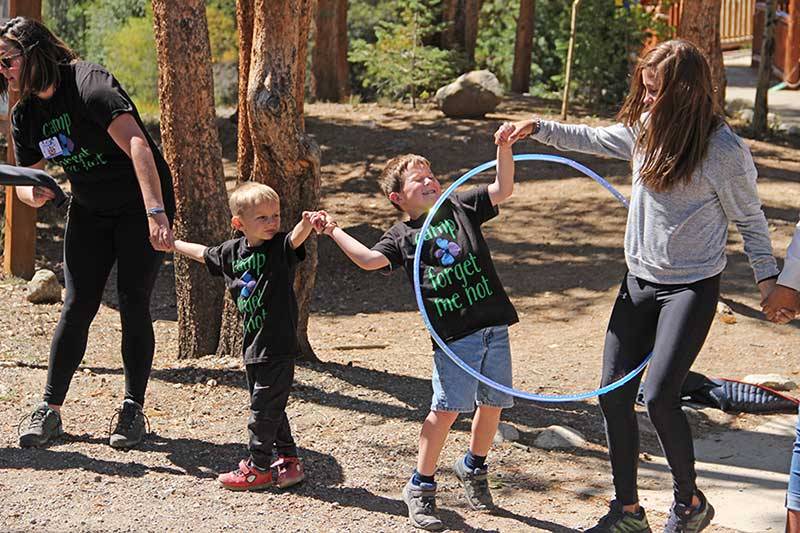 Camp Forget Me Not hula hooping