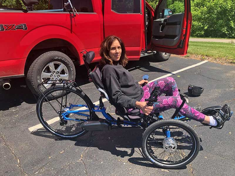 Peggy Manchester on her ICE Trike