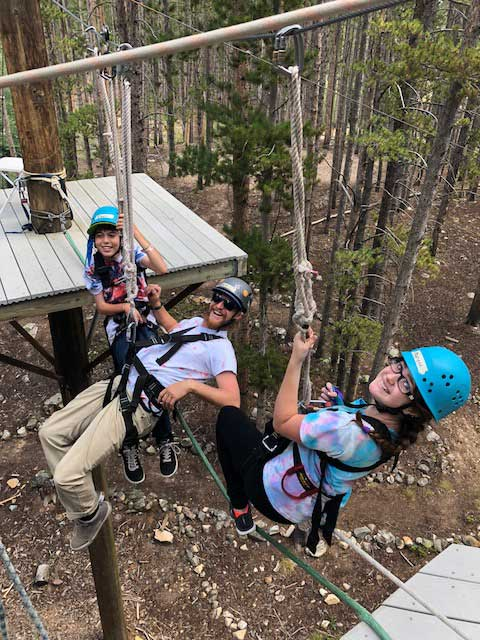 Hanging out on the BOEC ropes course