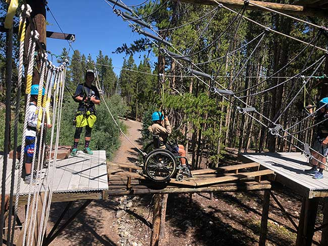 wheelchair accessible ropes course