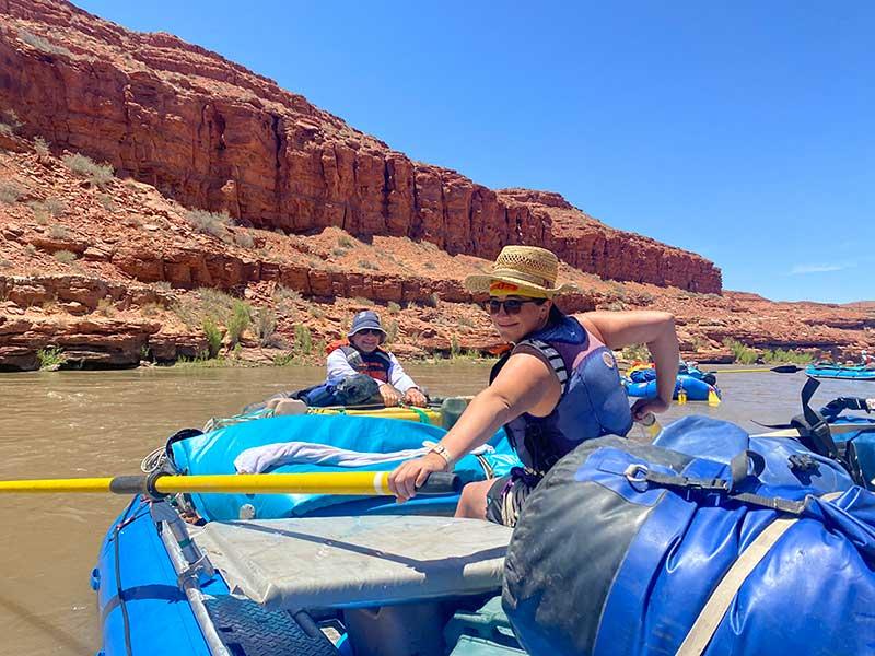 Jillian Palacio on a rafting trip