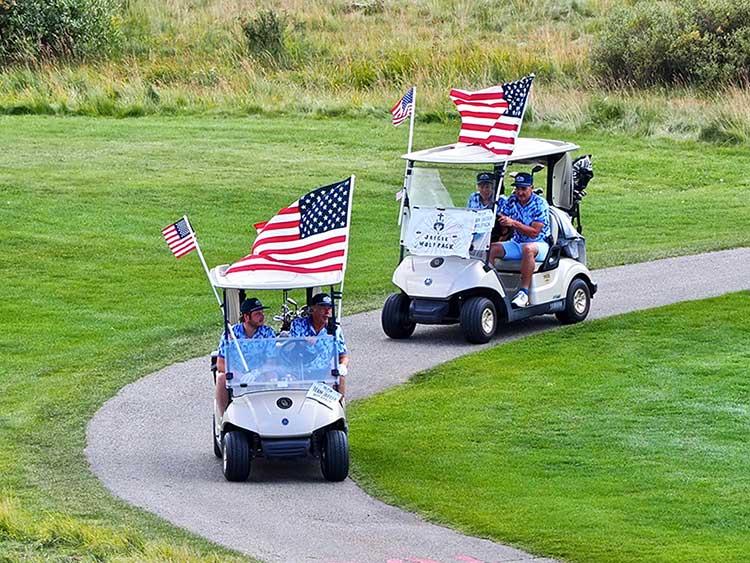 Patriotic Participants at 12th Annual Tee It Up Golf Scramble