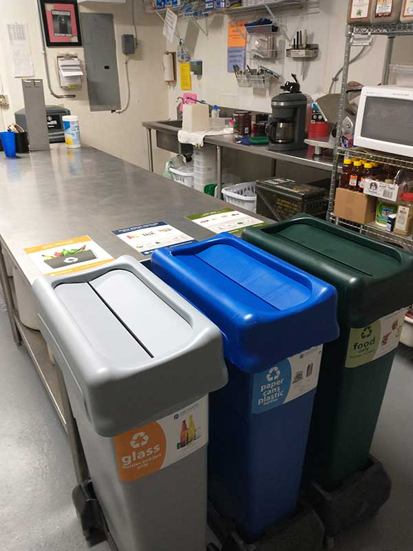 Recycling at the Griffith Lodge