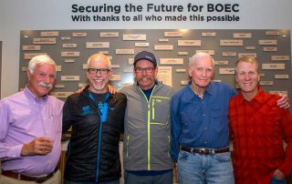 Tim Casey poses with other influential BOEC friends